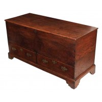 17th Century Solid Oak Blanket Box