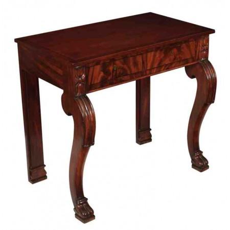 William IV Mahogany Console Hall Table