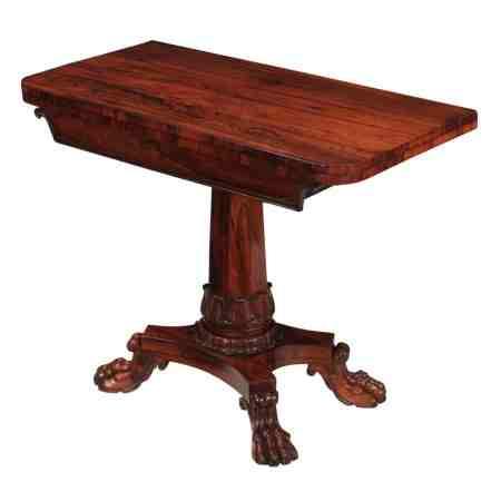 William IV Rosewood Tea Table