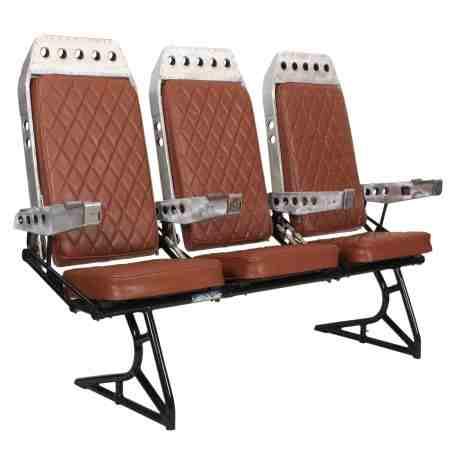 Aeroplane Seats and Aluminium Coffee Table