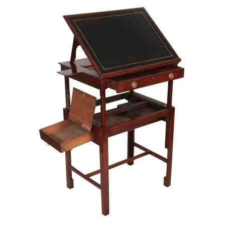 Rare Georgian Mahogany Mechanical Architects Table
