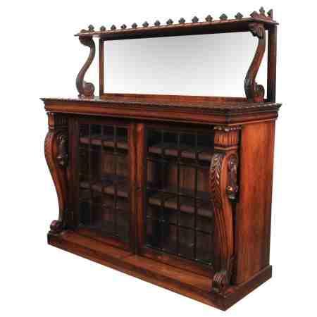 Magnificent William IV Rosewood Bookcase