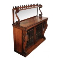 Magnificent William IV Rosewood Bookcase