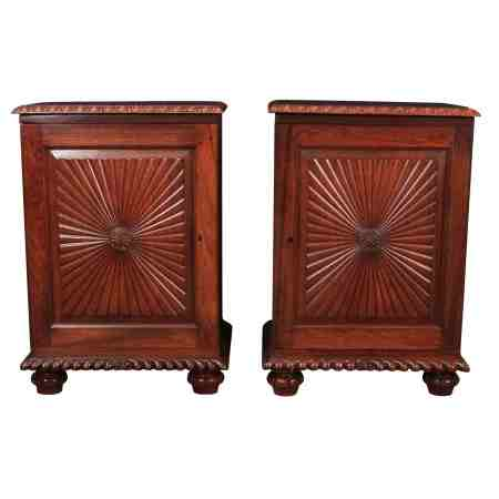 Pair of Anglo Indian Rosewood Bedside Cabinets