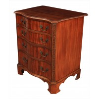 Small Mahogany Serpentine Shaped Chest of Drawers