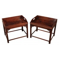 Pair of Mahogany Butlers Trays on Stands