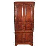 Large Georgian Oak Corner Cupboard