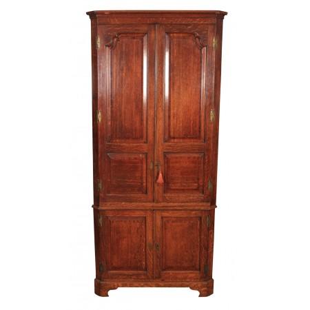 Large Georgian Oak Corner Cupboard