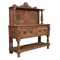 Dutch Carved Oak Dresser Sideboard