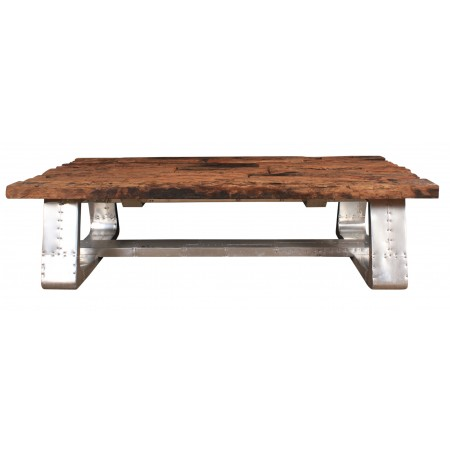 Aluminium & Reclaimed Wood Coffee Table
