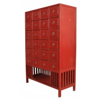 Red Chinese Apothecary Chest