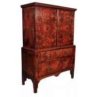 Rare 18th Century Oyster Veneered Cabinet on Chest
