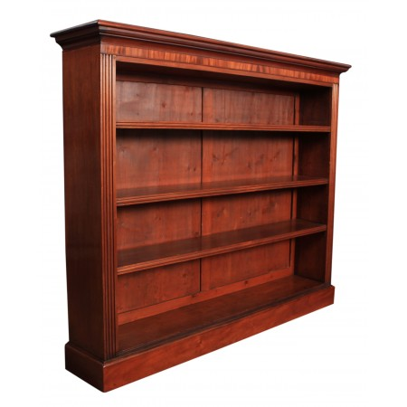 19th Century Large Mahogany Open Bookcase
