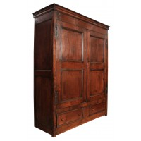 Early 18th Century Oak Wardrobe