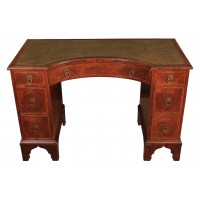 Queen Anne Style Walnut Concave Shaped Desk