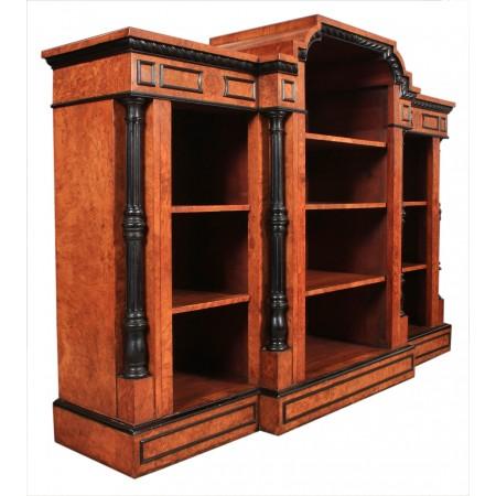 19th Century Pollard Oak Open Bookcase