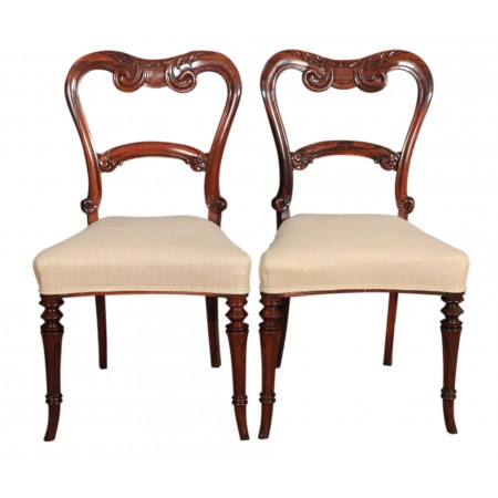 Pair of William IV Rosewood Chairs
