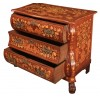 18th Century Dutch Marquetry Inlaid Walnut bombe Chest