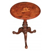Burr Walnut Inlaid Wine Tip Top Occasional Table