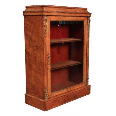 Inlaid Walnut Pier Display Cabinet