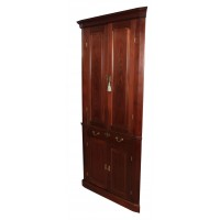 Georgian Cuban Mahogany Corner Cupboard