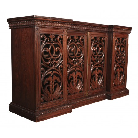 Magnificent Anglo Indian Padouk Wood Sideboard