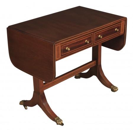Regency Mahogany Inlaid Sofa Table