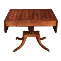Regency Rosewood Drop Leaf Sofa Table