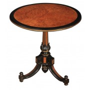 Ebony & Amboyna Inlaid Occasional Table