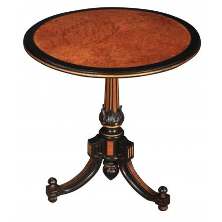 Ebony & Amboyna Inlaid Occasional Table