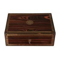 Regency Brass Inlaid Coromandel Jewellery Box