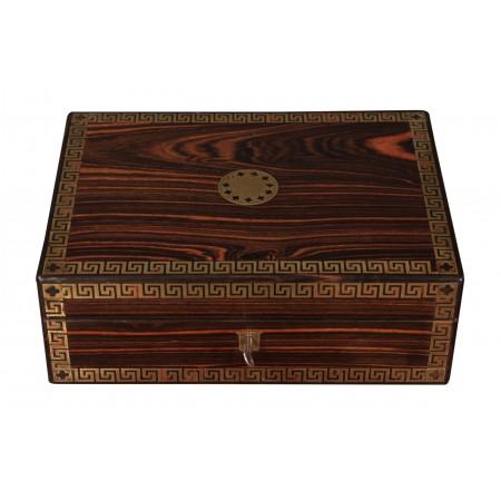 Regency Brass Inlaid Coromandel Jewellery Box