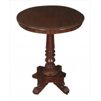 19th Century Solid Mahogany Occasional Table