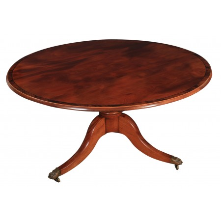 Large Round Regency Mahogany Dining Table