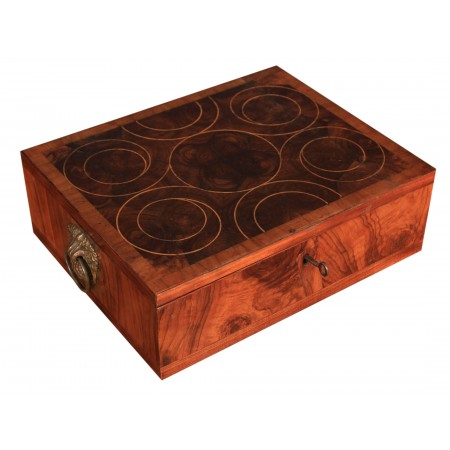 Rare Oyster Veneered Jewellery Box