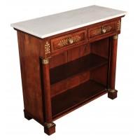 Regency Brass Inlaid Rosewood Open Bookcase