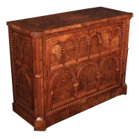 Rare Burr Walnut  Side Cabinet