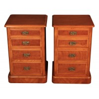 Pair of Satinwood Bedside Chests