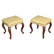 Pair of Mahogany Footstools