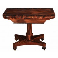 Rare Calamander Wood Card Table