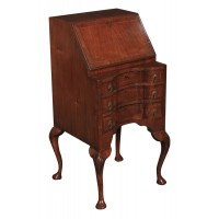 Small Queen Anne Style Shaped Walnut Bureau