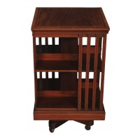 Maple & Co. Mahogany Inlaid Revolving Bookcase