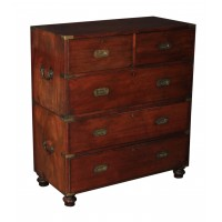 Victorian Mahogany Military Chest