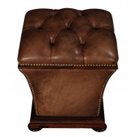 William IV Rosewood & Leather Ottoman Footstool