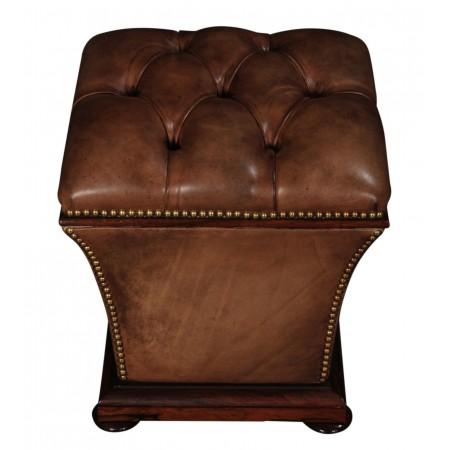 William IV Rosewood & Leather Ottoman Footstool