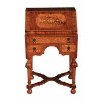 Small Marquetry Queen Anne Style Bureau