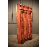 Stunning Figured Walnut Biedemier Corner Cupboard