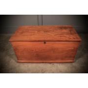 Rare Victorian Elm Storage Box