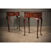 Pair of Bow front Bedside Tables