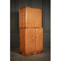 Art Deco Birds Eye Maple Cocktail Cabinet